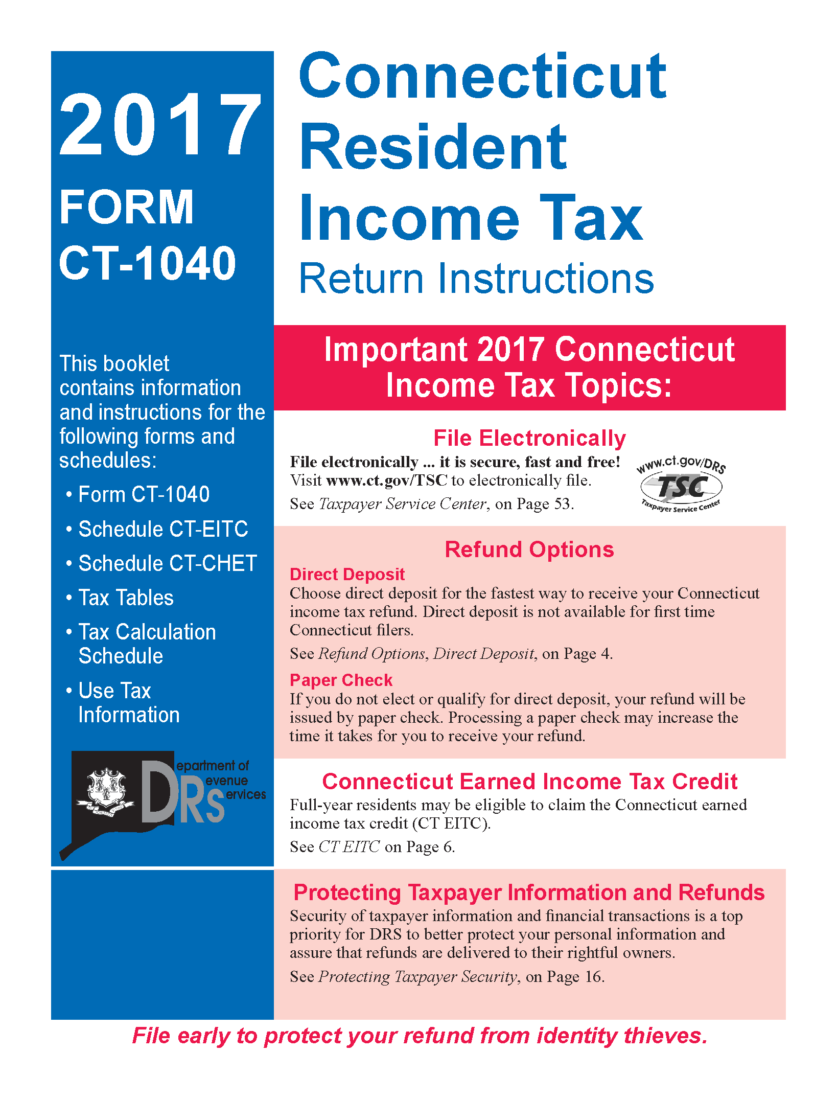Connecticut resident income tax return and instructions form ct connecticut resident income tax return and instructions form ct 1040 page 1 falaconquin